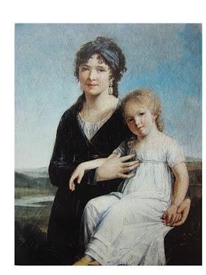 Portrait de l'artiste et de sa fille, Constance Charpentier