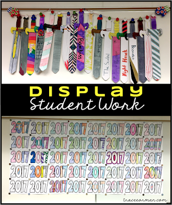 Display student work in your secondary classroom  www.traceeorman.com