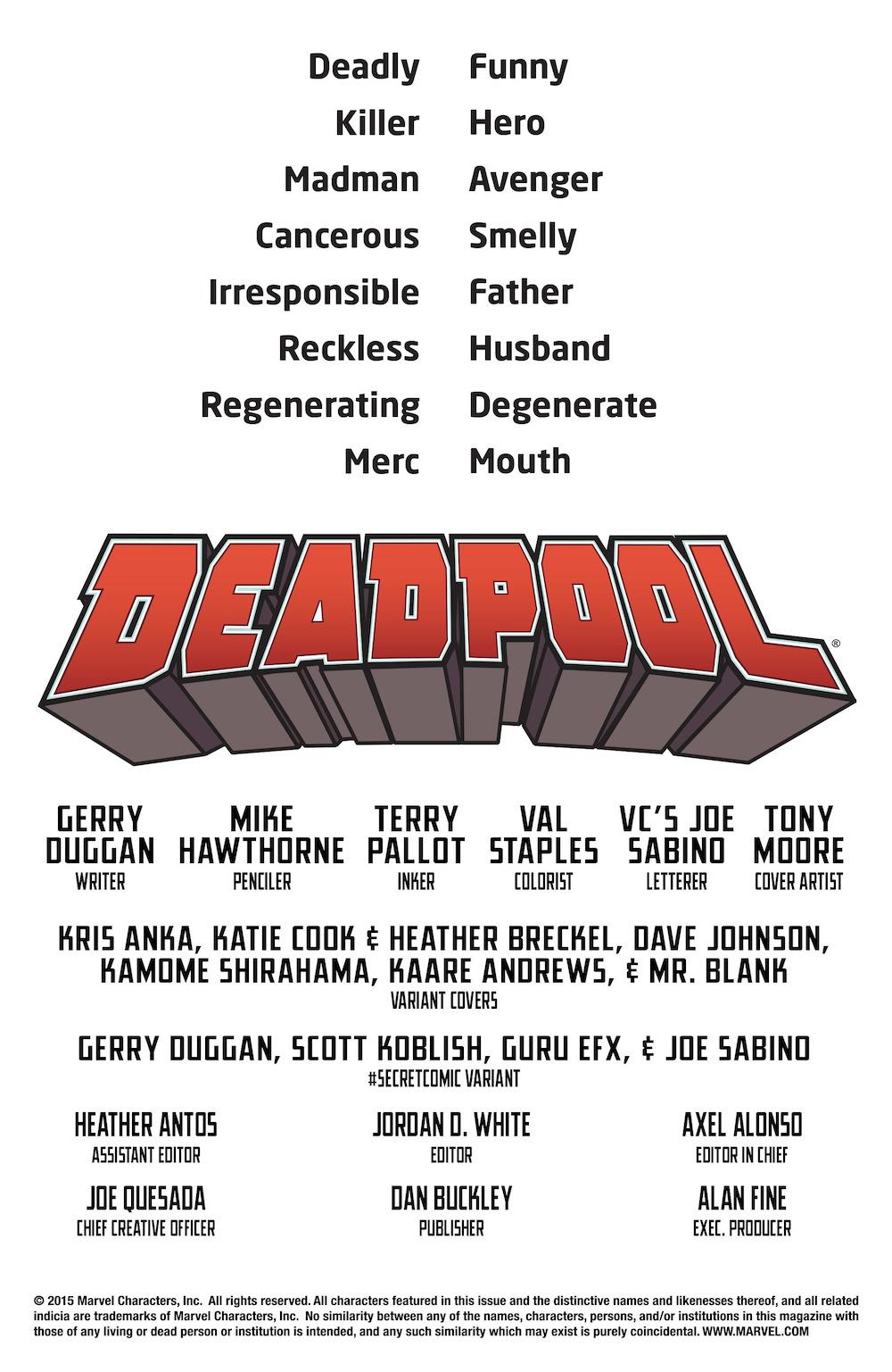 Deadpool (2016) #1 Page OO-OO-OO