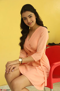 Rukshar Mir in a Peachy Deep Neck Short Dress 024.JPG