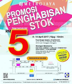 Metrojaya Stock Clearance 2017