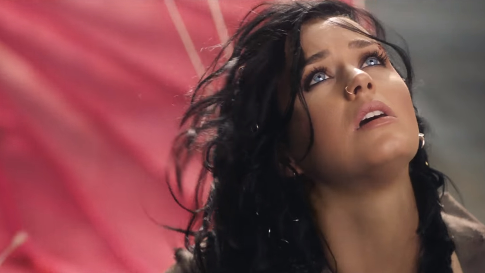 Katy Perry performing Rise