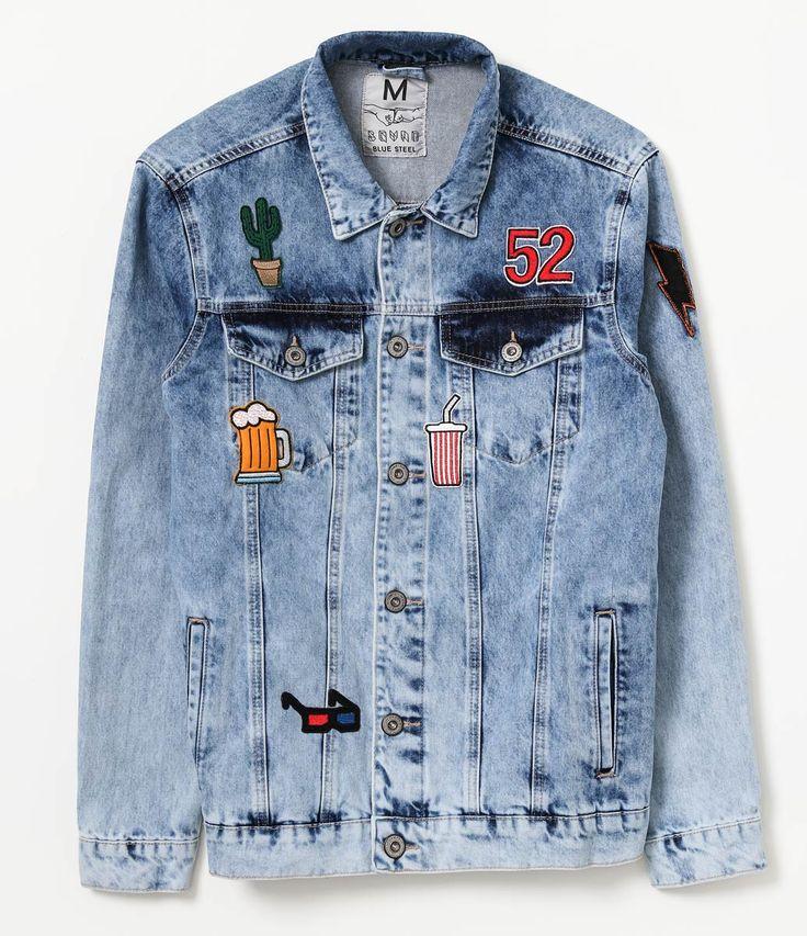 Jaqueta Jeans Masculina com Patches