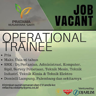 Open Recruitment di Pratama Nusantara Sakti Lampung Terbaru Mei 2018