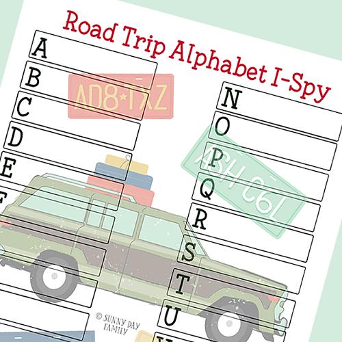 Awesome Alphabet Road Trip I Spy Printable