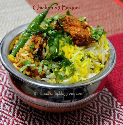 Chicken 65 Biryani