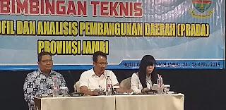 Kabid Perekonomian Bappeda Provinsi Jambi Buka Bintek PRADA Provinsi Jambi.