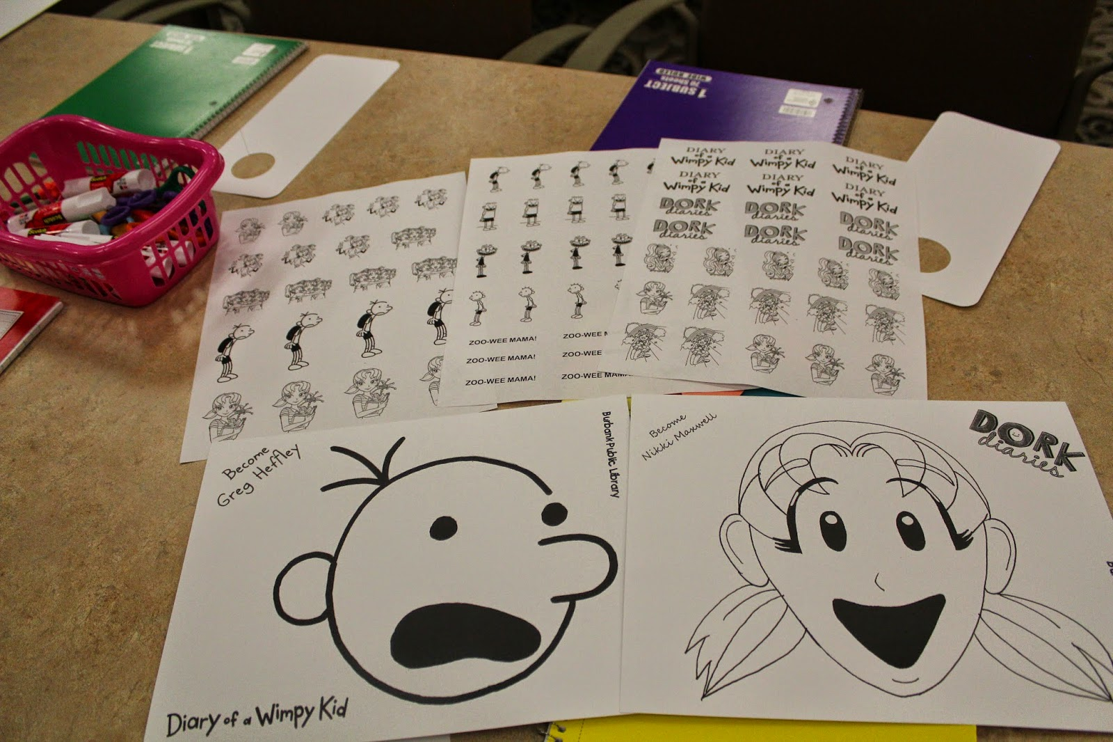 Make your own diary of a wimpy kid book events at burbank directions print cut out your characters and paste all throughout the notebook no specific way of doing it just use your imagination solutioingenieria Images