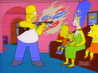 shotgun make-up escopeta maquillaje homer homero simpson trietanolamina cosmetica El mago de Evergreen Terrace cosmetologia