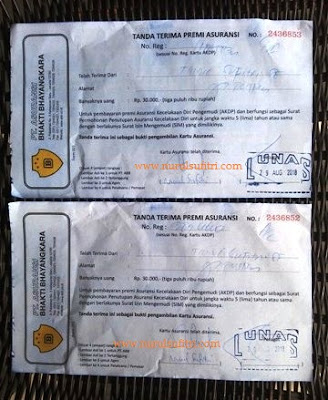 tanda terima premi asuransi pepanjang sim di satpas polres metro jaya jakarta selatan nurul sufitri blogger