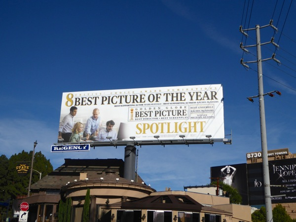 Spotlight Critics Choice Golden Globe billboard