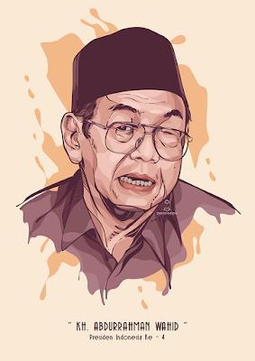 KH. Abdurrahman Wahid (Vector Gus Dur)