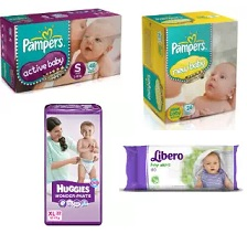 Shop Baby Diapers (Aleady Discounted 25% to 56%) & Get Amazon Gift card upto Rs.1000 for FREE (Valid till 2nd Feb'17)