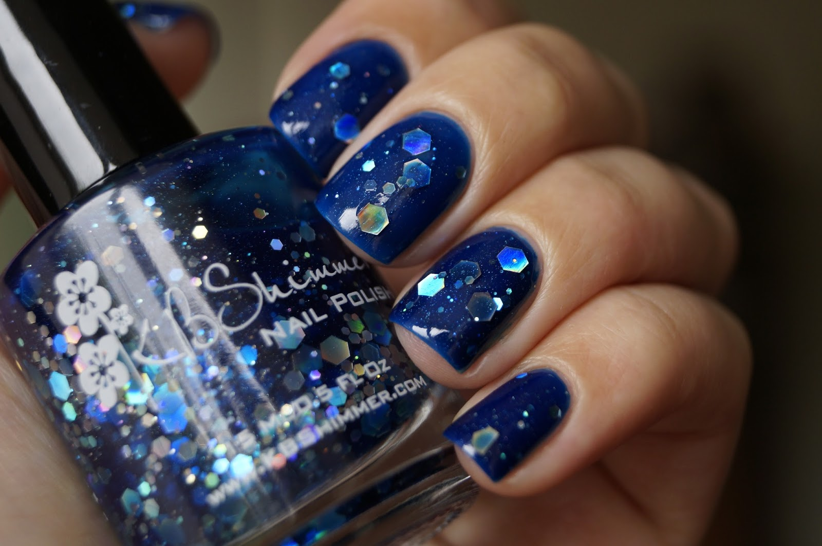 "KIKO 335 + KBShimmer ""I got a crush on blue"""