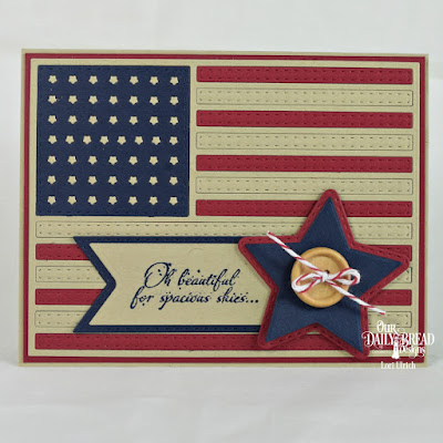 Our Daily Bread Designs Stamp Set: Let Freedom Ring, Custom Dies: USA Flag, Double Stitched Pennant Flags, Pennant Flags, Double Stitched Stars, Sparkling Stars