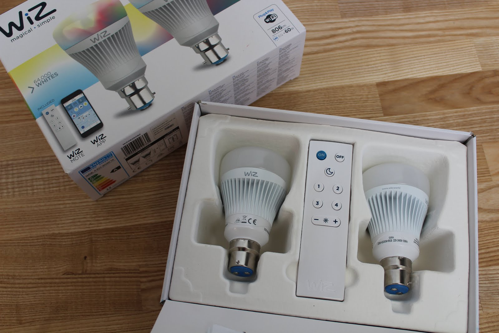 Smart Light Bulbs in Box