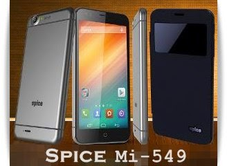 Spice Mi-549: 5.5 inch,1.3 GHz Quad Core Android Phone Specs, Price