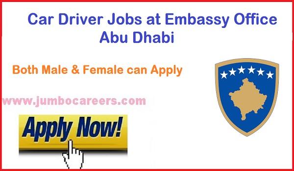 Abu Dhabi latest Driver jobs, UAE car driver jobs vacancies 2018,
