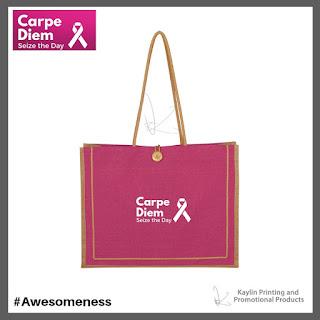 Promotional Pink Jute Tote Bags