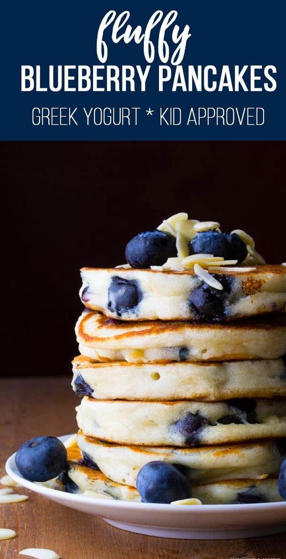 Extra Fluffy Almond Blueberry Pancake