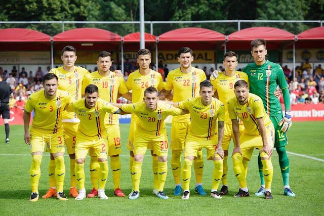 Formación de Rumania ante Chile, amistoso disputado el 31 de mayo de 2018