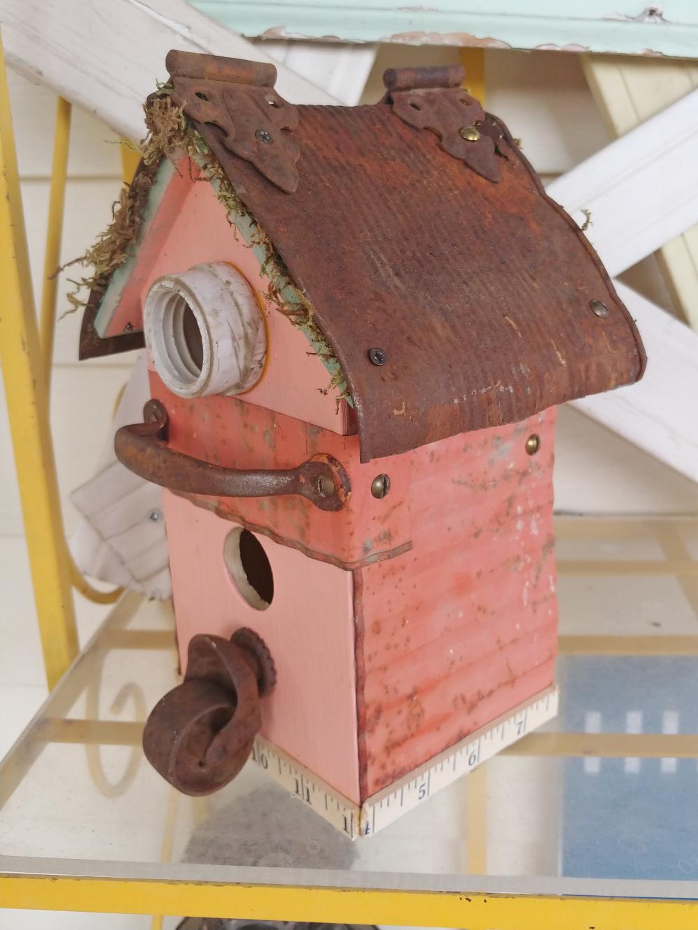junky birdhouse