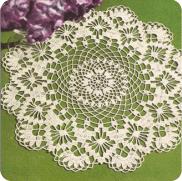 "Centro de Mesa ""Hortensia"" y Tapete ""Flor Imperial"""