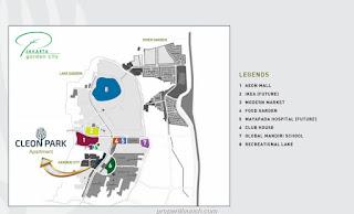 Peta Lokasi Apartemen Cleon Park JGC