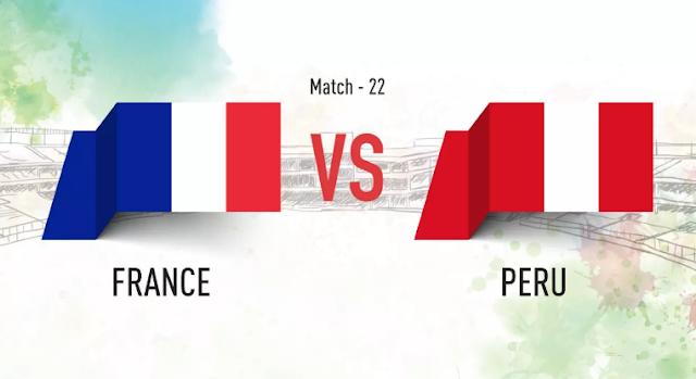 اهداف مباراة فرنسا وبيرو France vs Peru في مونديال 2018 في روسيا