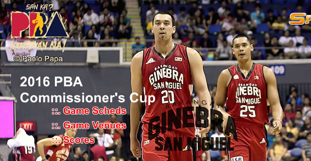 List of Barangay Ginebra San Miguel 11 Games Elimination Round 2016 PBA Commissioner's Cup