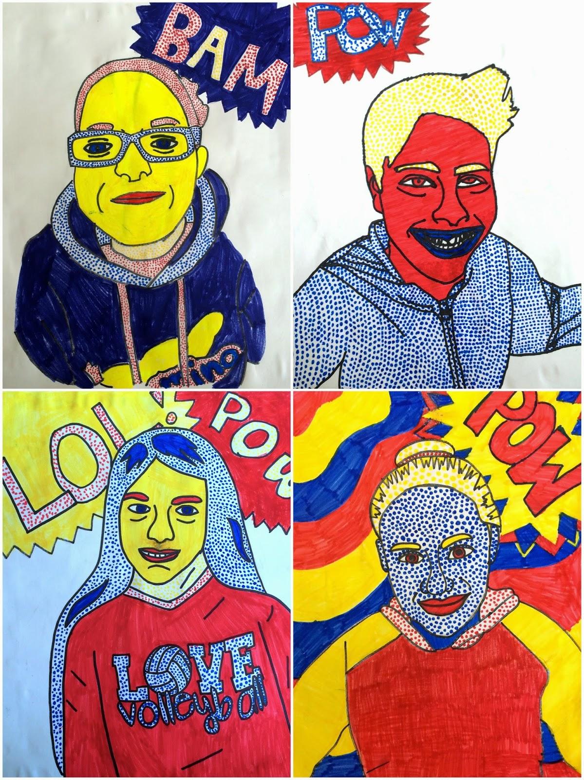 Art Eat Tie Dye Repeat 6th Grade Roy Lichtenstein