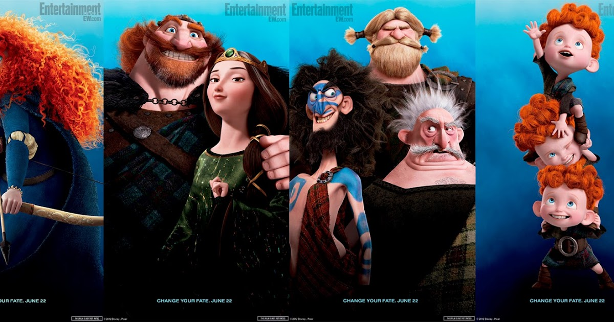 Four New Brave Character Posters   CG Daily News