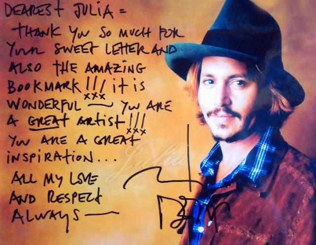 Johnny Depp autograf Autograph