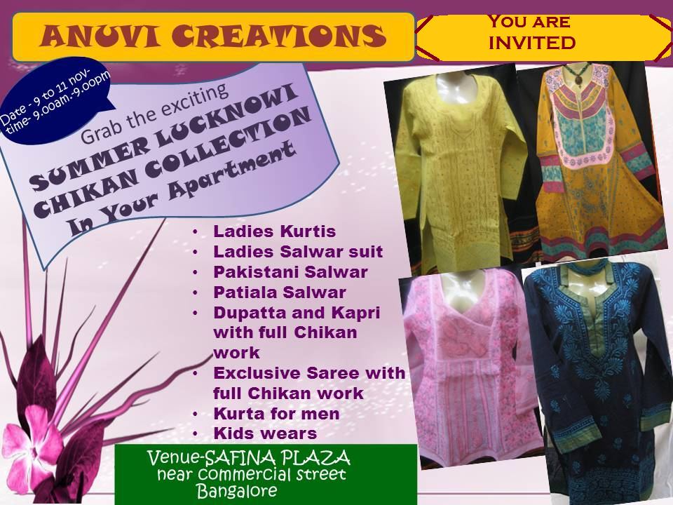 Lucknowi Chikan: EXHIBITION IN BANGALORE