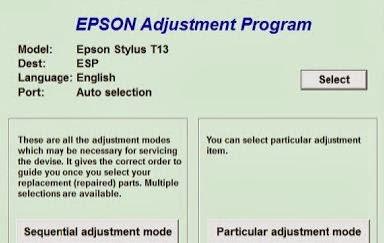 Resetter Epson T13 ME32