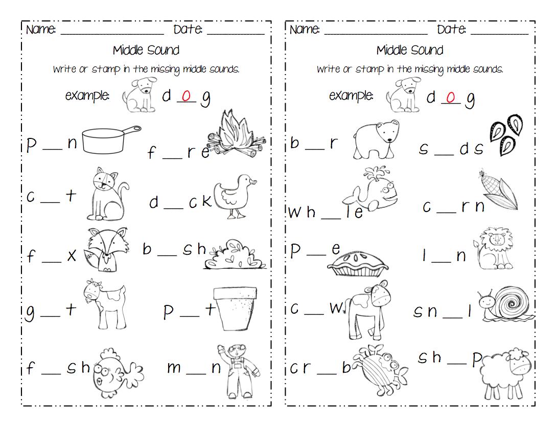 Worksheets Middle Sound Worksheets 14 phonics worksheets beginning middle and ending sounds worksheet beginning