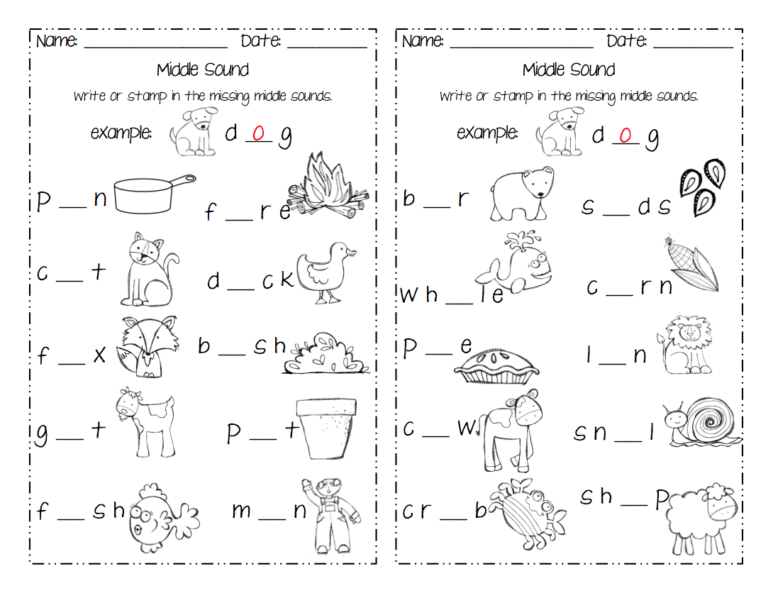 Printables Middle Sound Worksheets beginning middle and ending sound activities the curious catfish bme pack is available in my tpt store there a freebie up for grabs preview stop by check it out