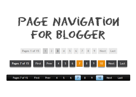numbered page navigation widget