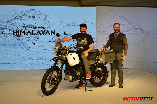 Siddhartha Lal with The Royal Enfield Himalayan