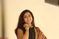 Lasya looks super cute in black choli Saree at Raja Meru Keka Press Meet ~  Exclusive 107.JPG