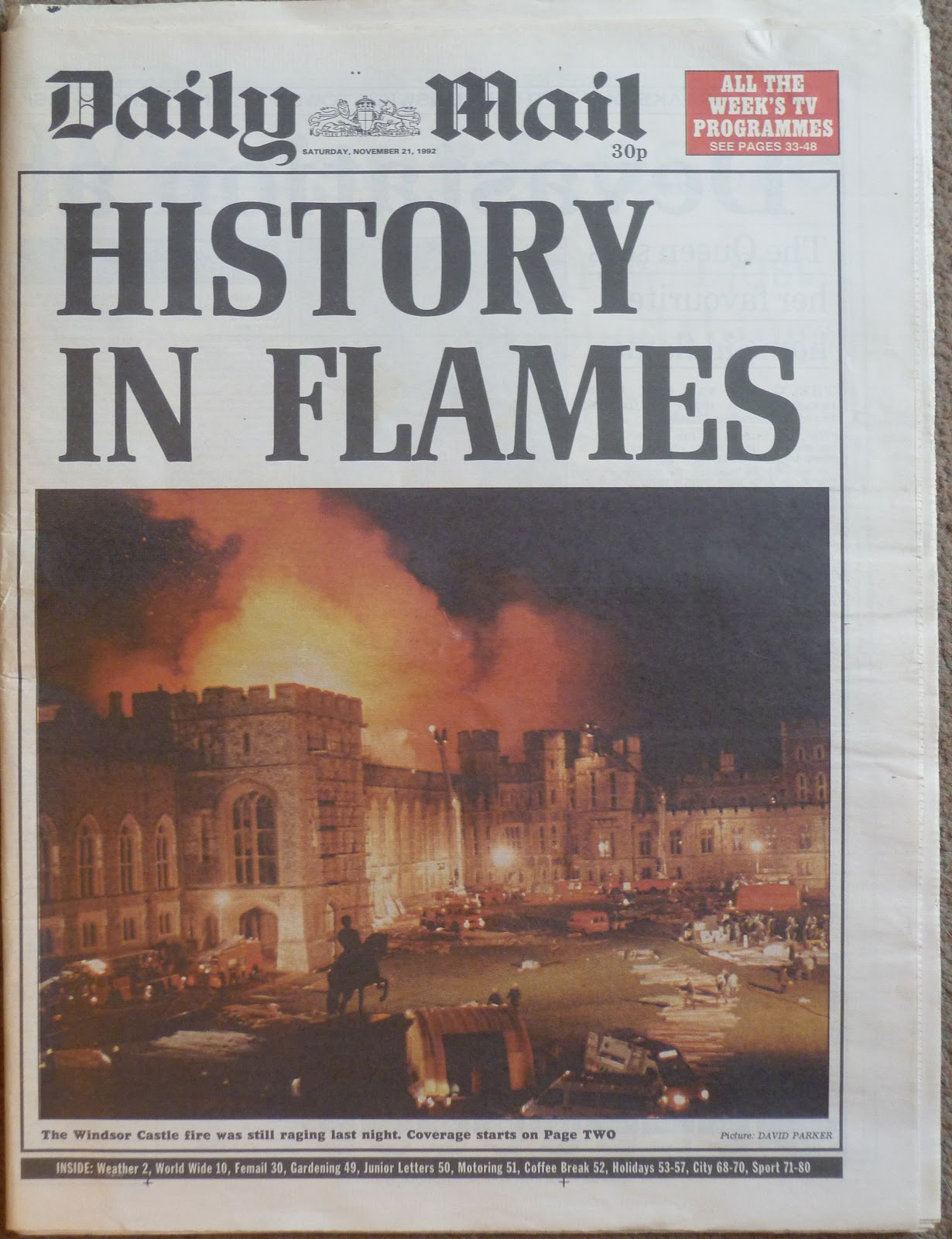 Hold The Front Page: Windsor Castle Fire 1992