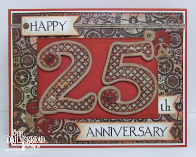 Our Daily Bread Designs Stamp Set: Celebration, Custom Dies:Large Numbers,Pennant Flags, Pierced Rectangles, Steampunk Gears, Artistic Outpost Paper Collection: Vagabond Treasures