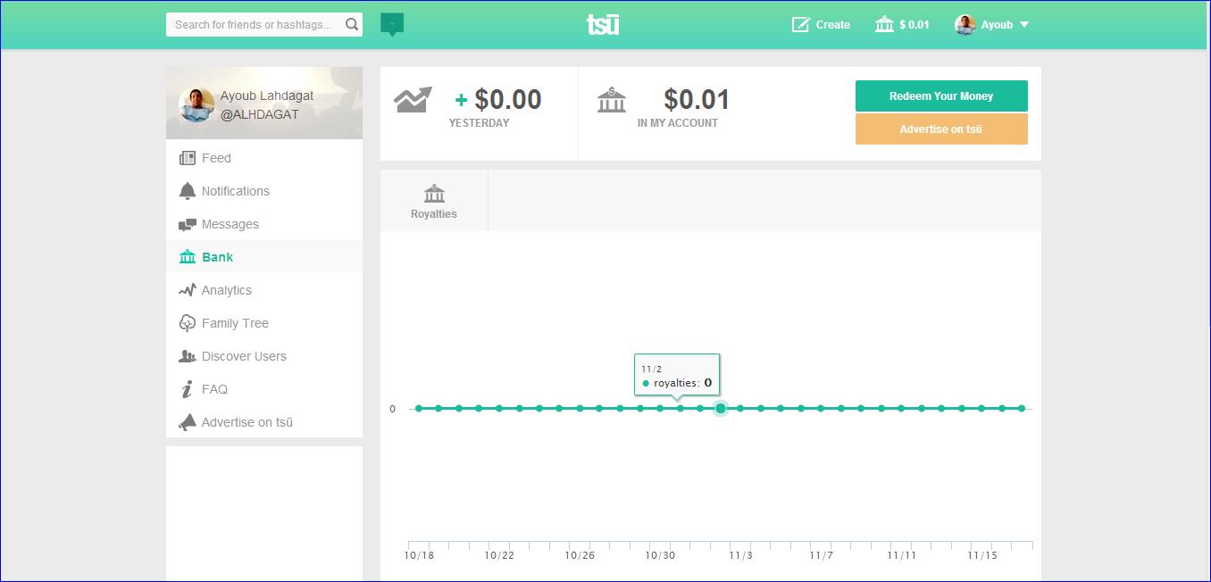 موقع TSU شرح التسجيل وكيفية كسب متابعين وطريقة جني الأرباح