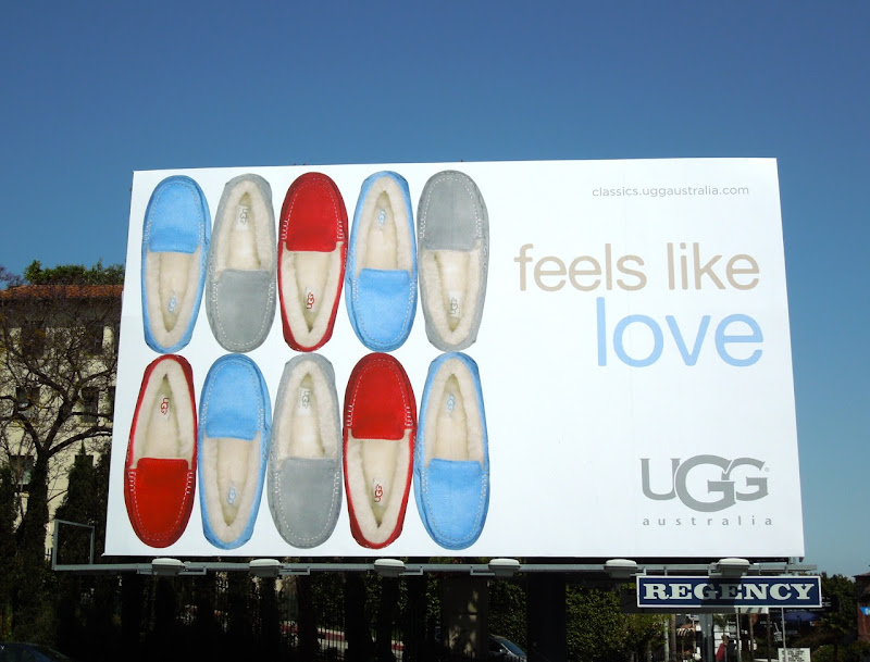 UGG Feels like love moccasin billboard
