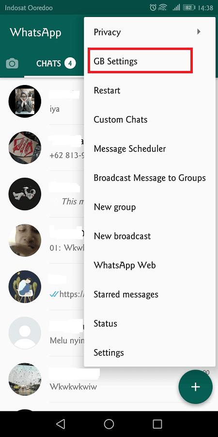 gbwhatsapp juga memiliki fitur tambahan