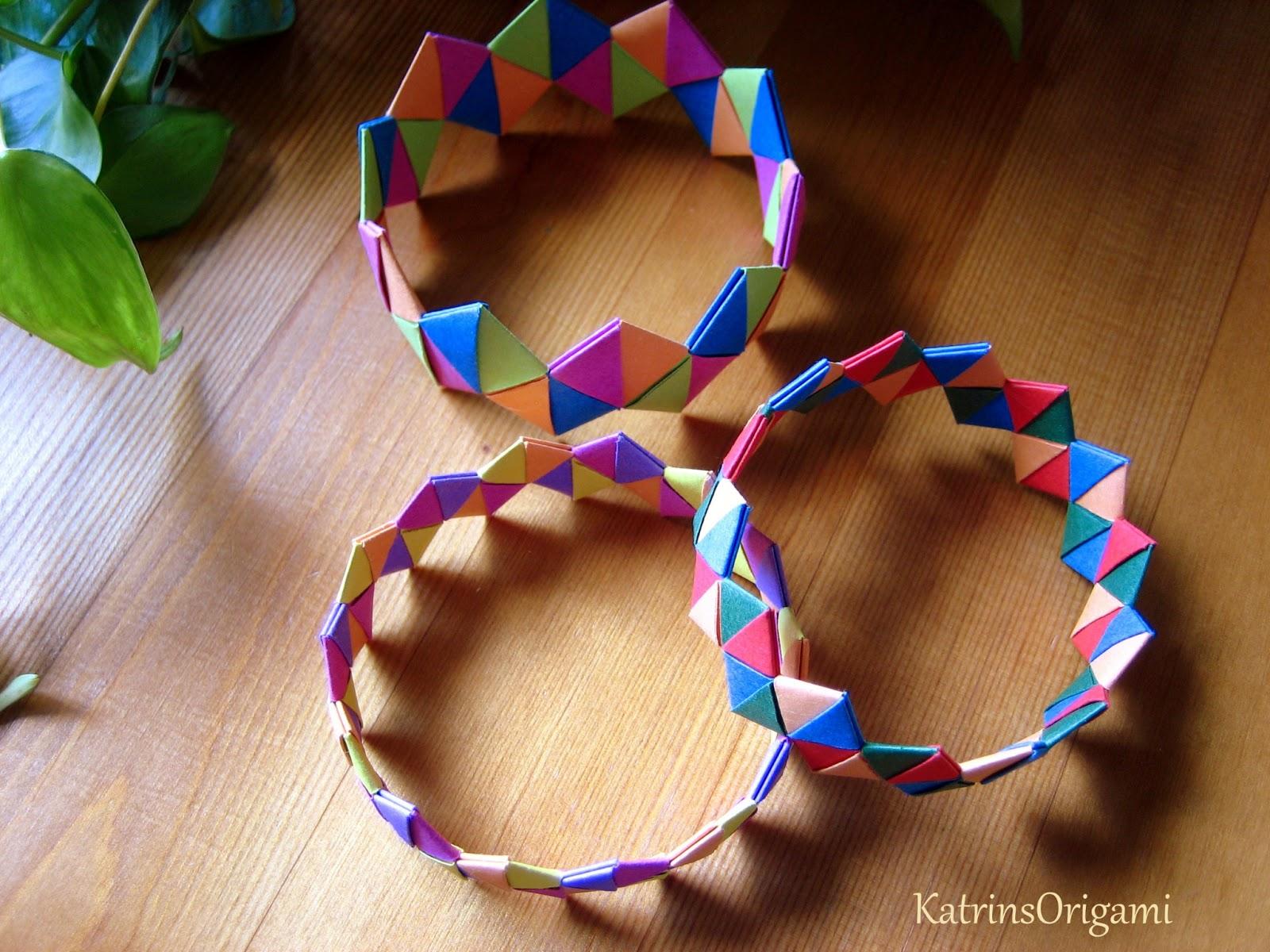 origami die kunst des papierfaltens origami bracelet. Black Bedroom Furniture Sets. Home Design Ideas