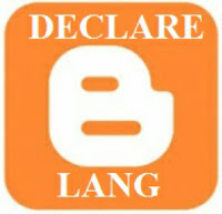 How to declare your blogger Language
