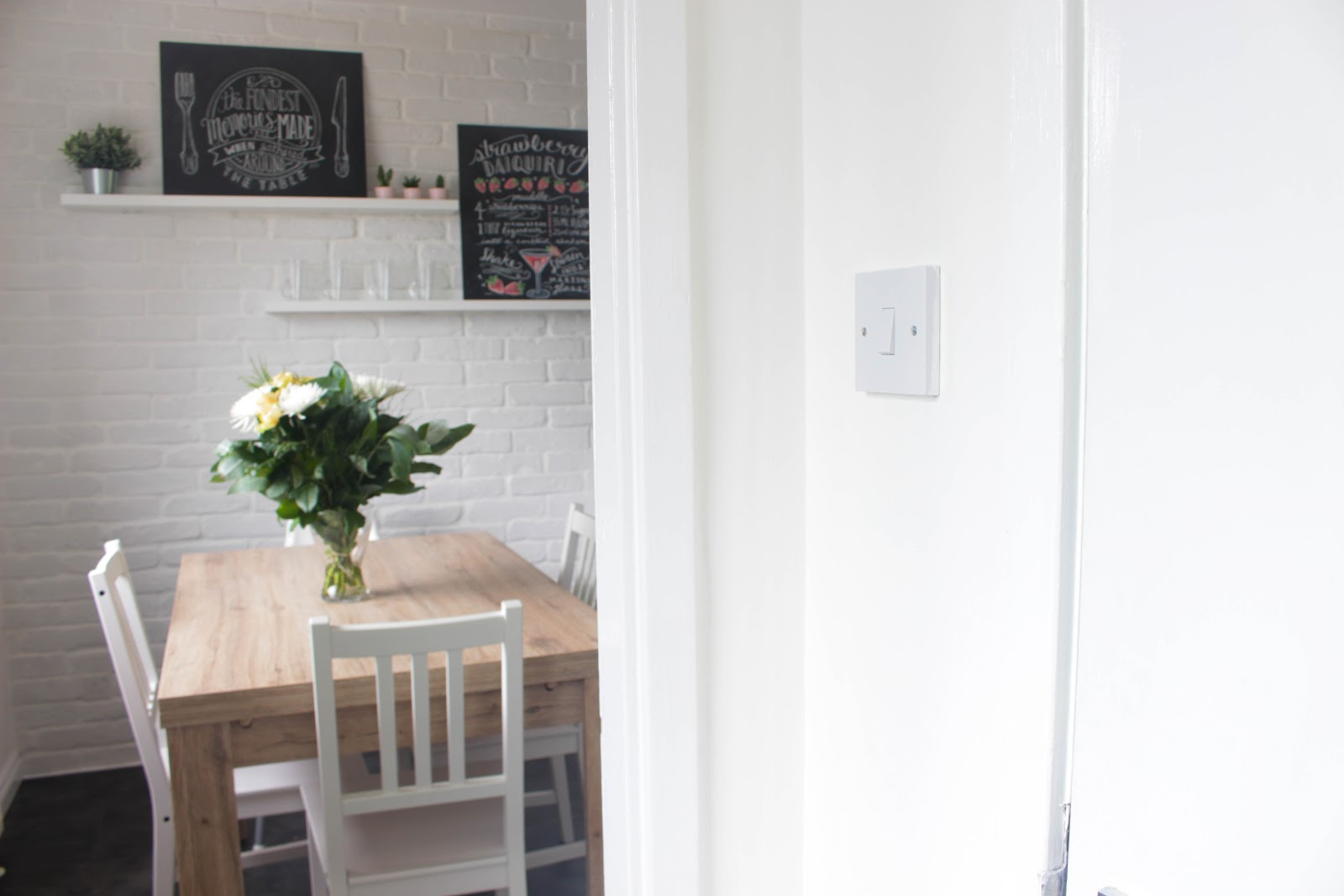 Transform New Kitchen White Brick Wall Scandinavian Wayfair Table Cheap Worktops