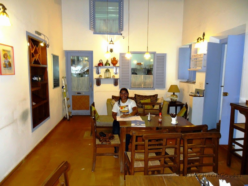 Tea Cafe in Fontainhas - the picturesque Latin quarter in Goa
