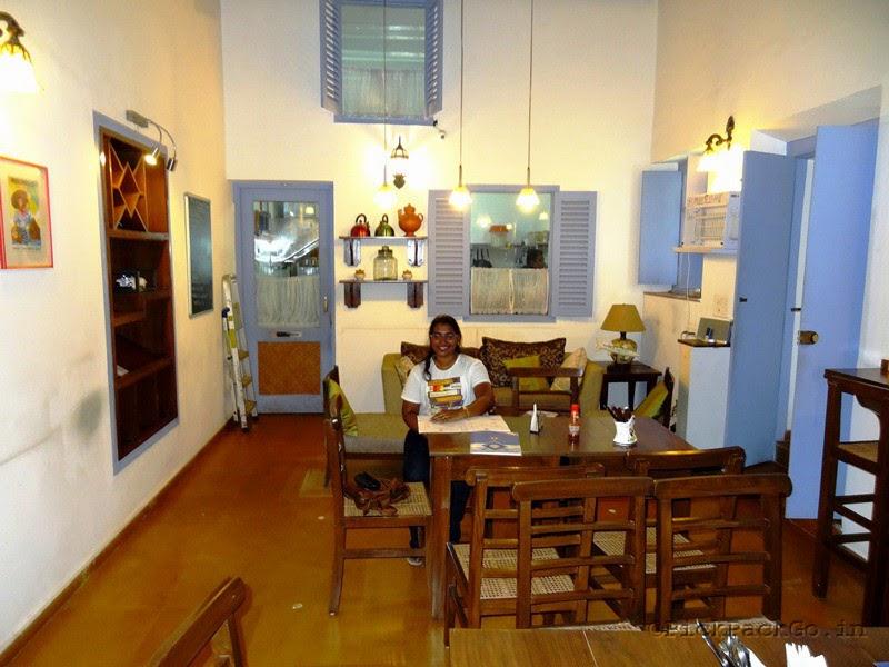 Tea Cafe in Fontainhas - the picturesque Latin quarter in Goa